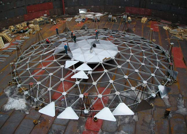 Aluminum dome roofs for tanks | EnterNova Solutions