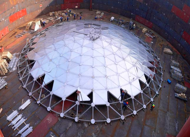 Aluminum Dome Roofs For Tanks Enternova Solutions