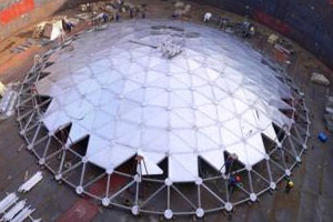 Aluminum dome roofs for tanks